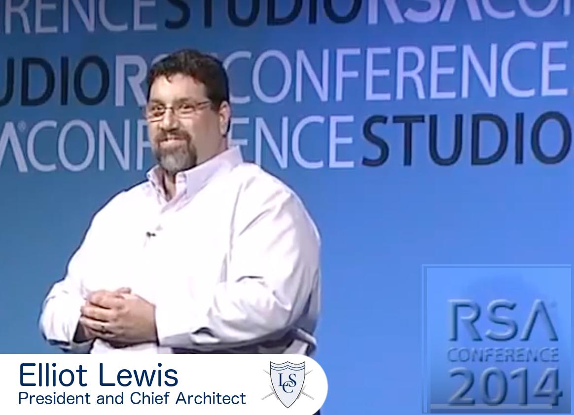 Elliot Lewis speaking at RSA 2014